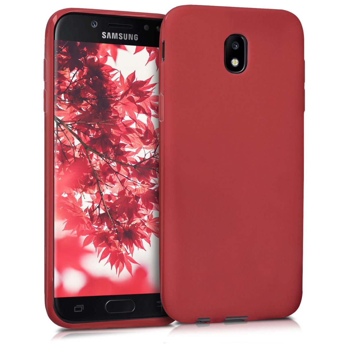 Kvalitní silikonové TPU pouzdro pro Samsung J5 (2017) DUOS - červené matné