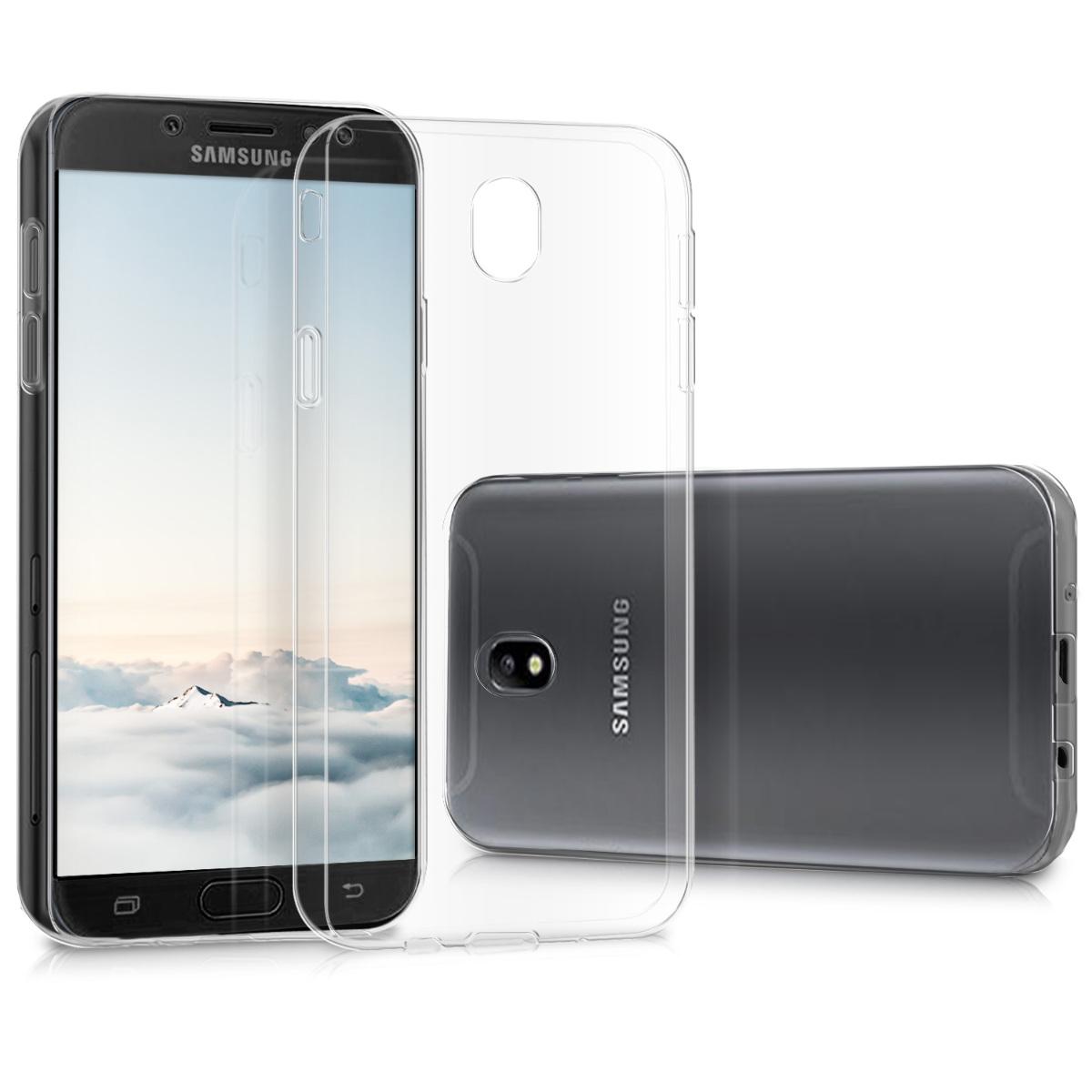 Kvalitní silikonové TPU pouzdro pro Samsung J7 (2017) DUOS - průhledné