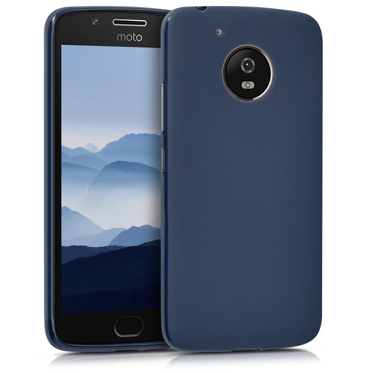 Kvalitní silikonové TPU pouzdro | obal pro Motorola Moto G5 - Tmavě modrá matná