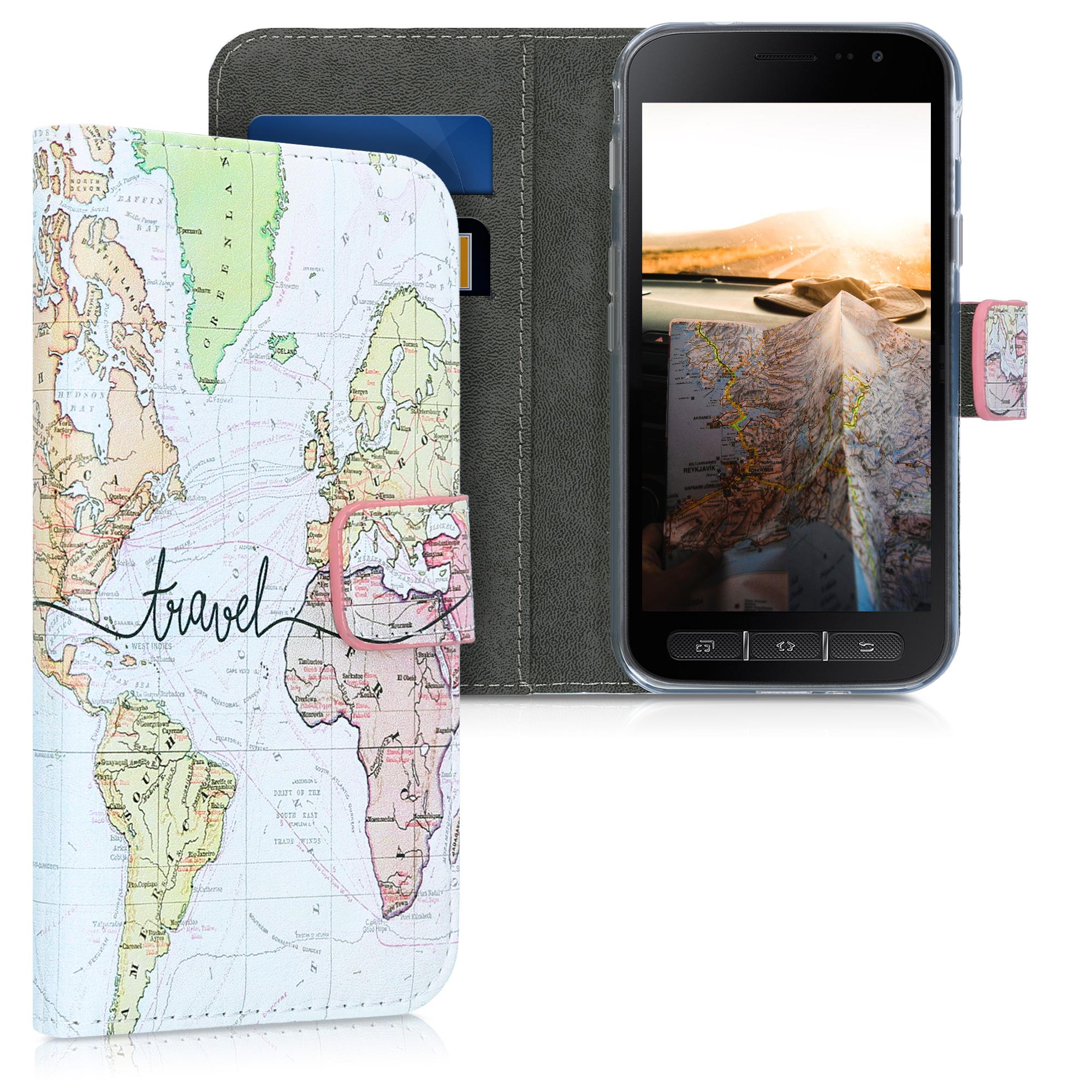 Kožené pouzdro pro Samsung Xcover 4 | 4S - Travel černé / vícebarevná