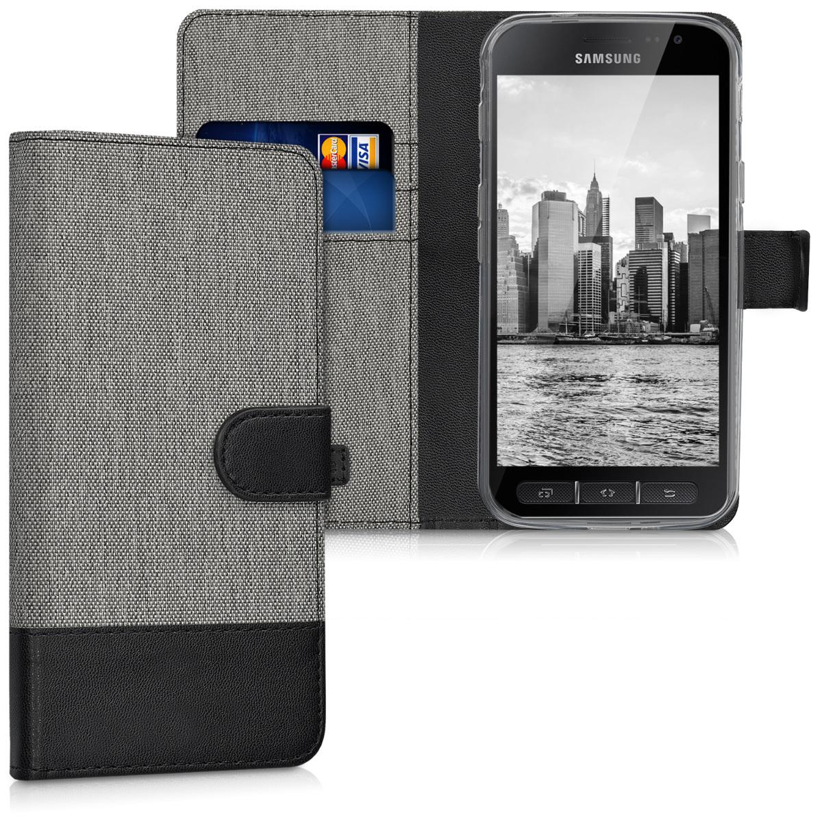Fabricpouzdro pro Samsung Xcover 4 | 4S - šedé / černé