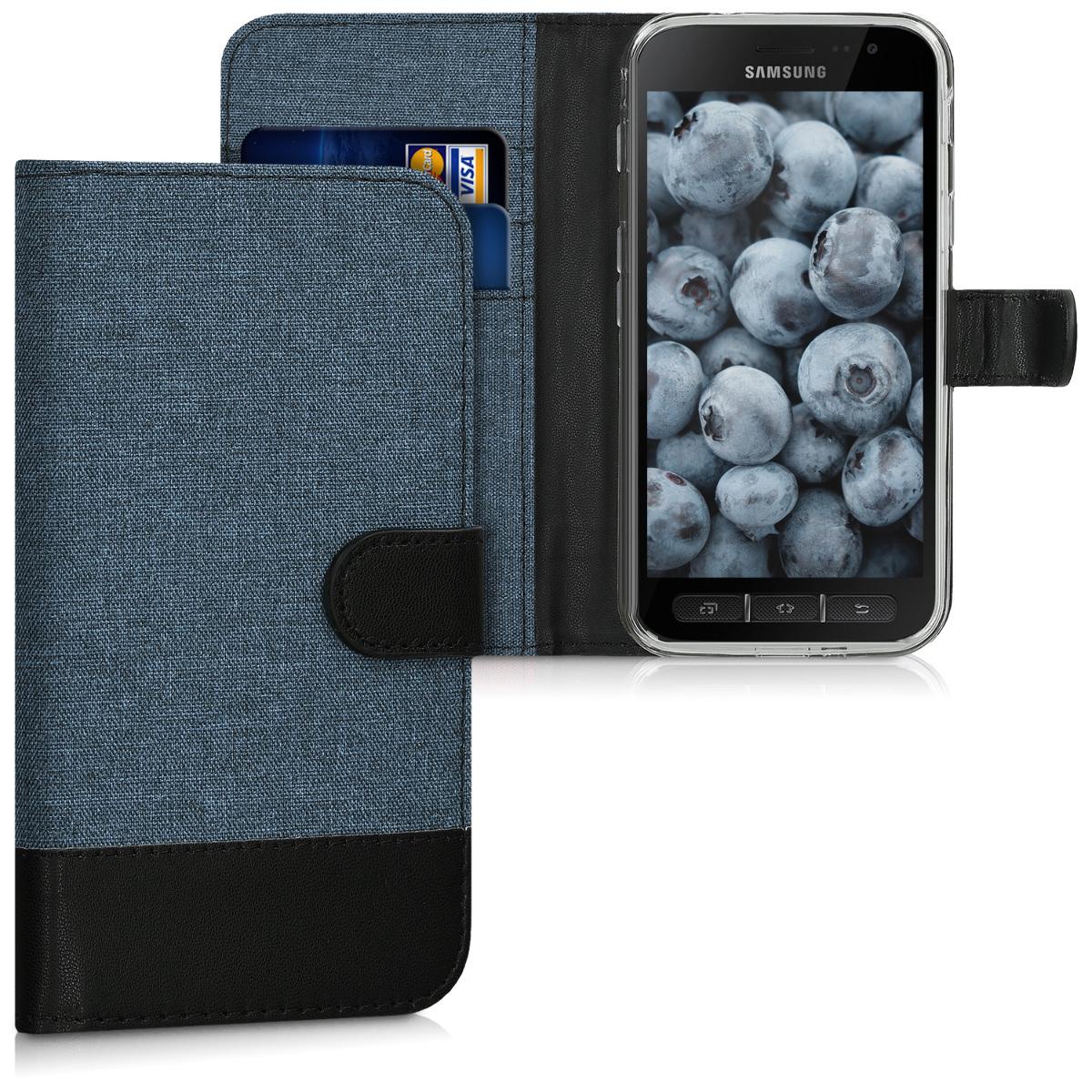 Modré textilní pouzdro pro Samsung Xcover 4 | 4S - tmavě modré
