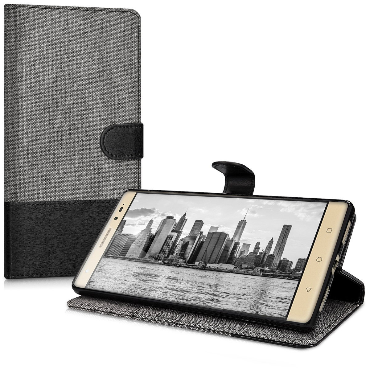 kwmobile-FABRIC-WALLET-PROTECTIVE-COVER-FOR-LENOVO-PHAB2-PLUS-COVER-CASE-BAG