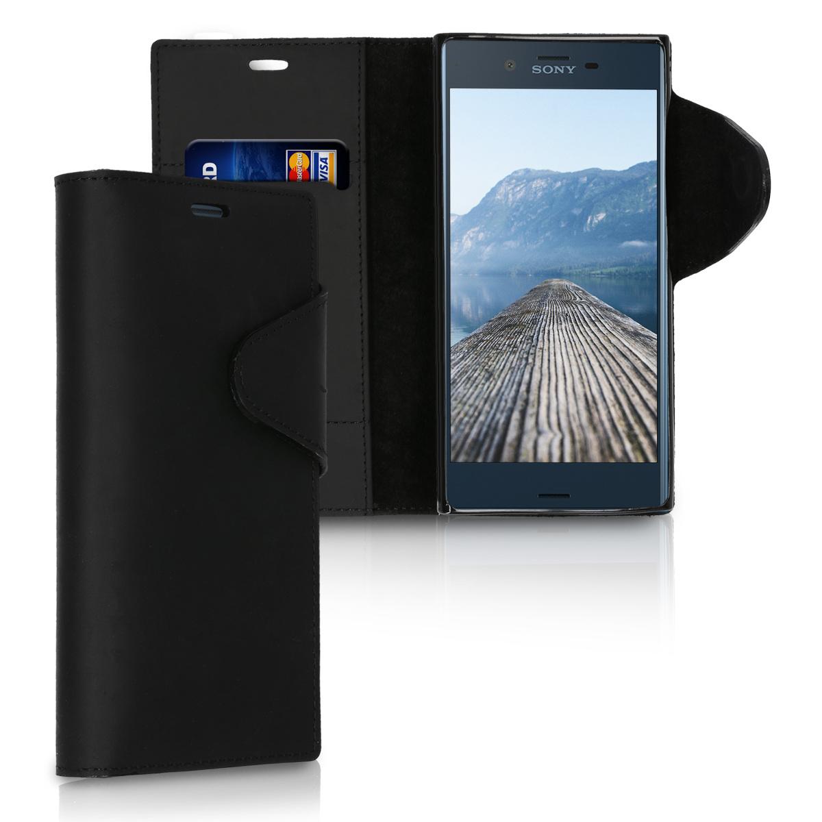Kožené pouzdro | obal pro Sony Xperia XZ / XZs - černé