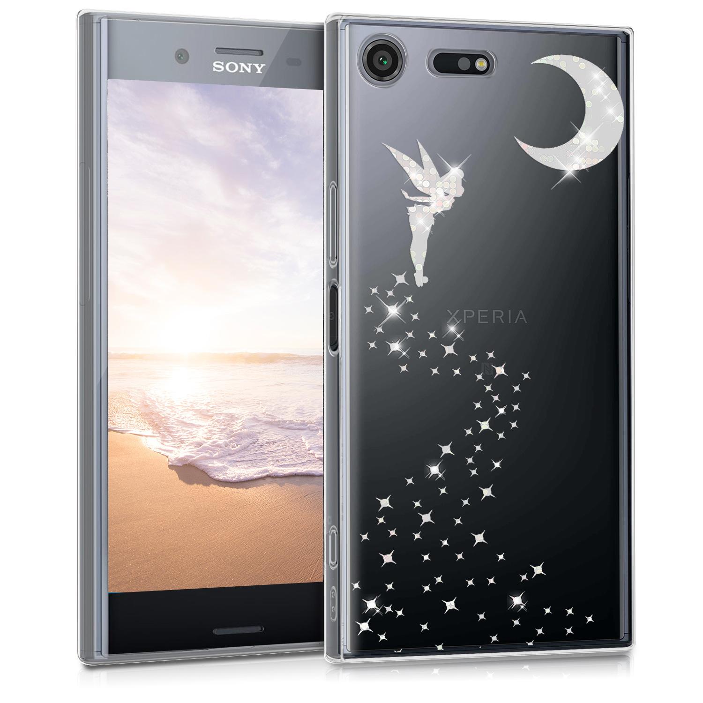 Kvalitní silikonové TPU pouzdro | obal pro Sony Xperia XZ Premium - Třpytivé víla stříbrné / průhledné
