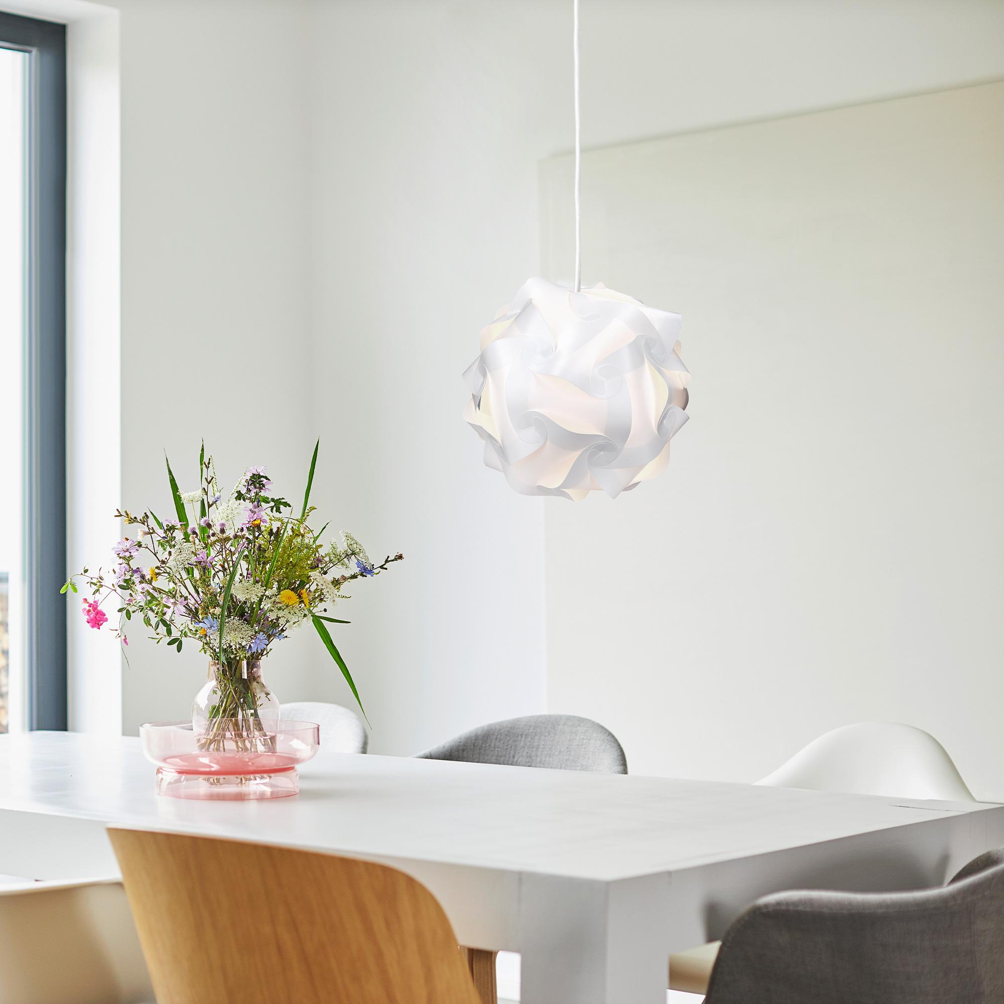diy puzzle lampe lampenschirm schirm min 15 designs ca 20 cm gr s in wei ebay. Black Bedroom Furniture Sets. Home Design Ideas
