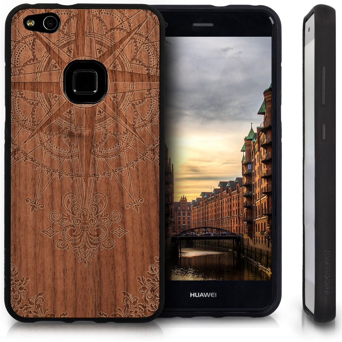 protective case for huawei p10 lite wooden case tpu bumper. Black Bedroom Furniture Sets. Home Design Ideas