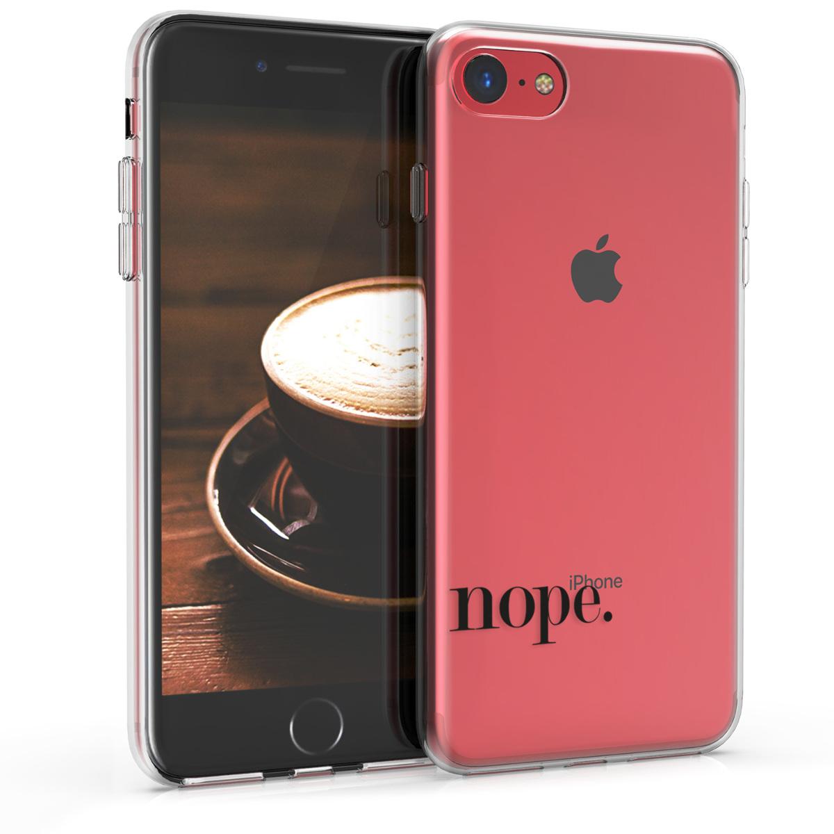 Kvalitní silikonové TPU pouzdro pro Apple iPhone 7 / 8 / SE  - Ne Black | Transparent