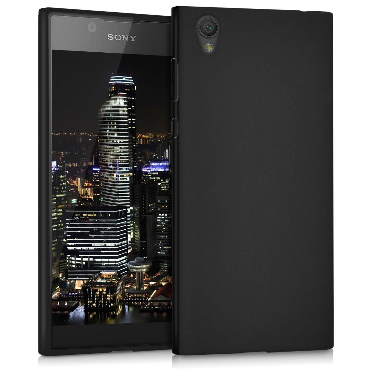 Kvalitní silikonové TPU pouzdro | obal pro Sony Xperia L1 - černé matné