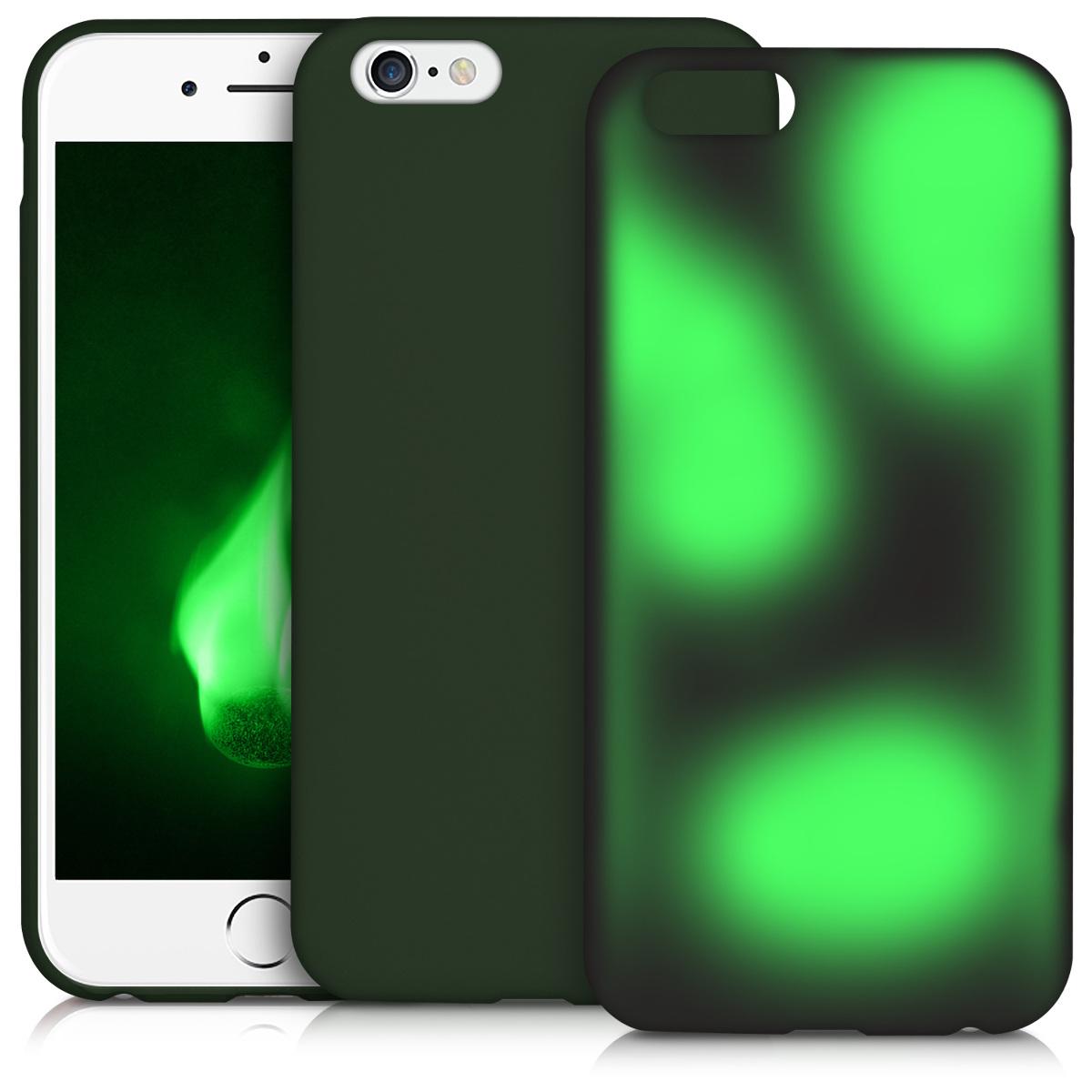 tpu silikon h lle f r apple iphone 6 6s schwarz gr n mit. Black Bedroom Furniture Sets. Home Design Ideas