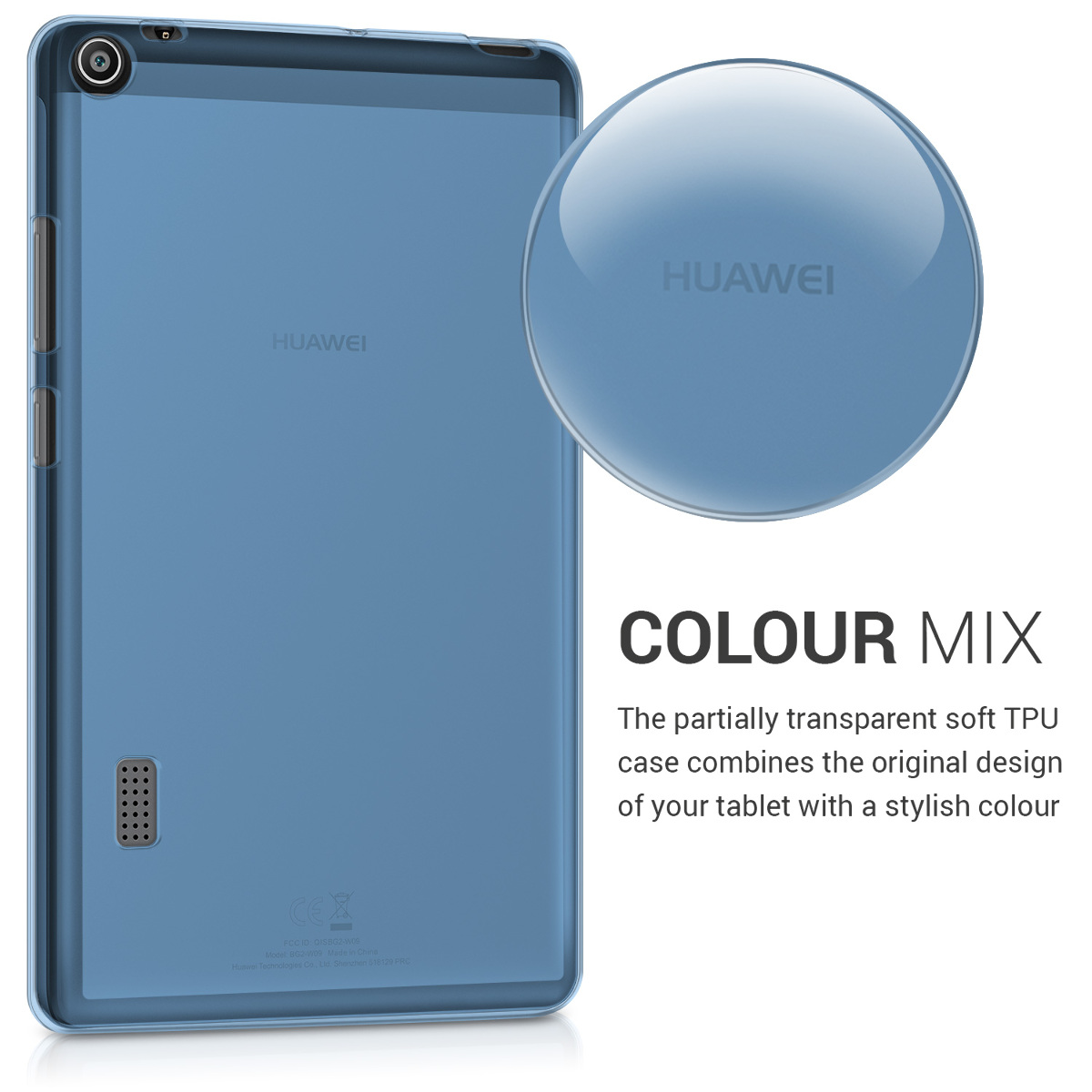 31bf7f956e7 kwmobile Crystal TPU Cover Compatible with Huawei MediaPad T3 7.0 - Mobile  Cell Phone Case - Blue. ‹ › ‹ › ‹ › ‹ ›