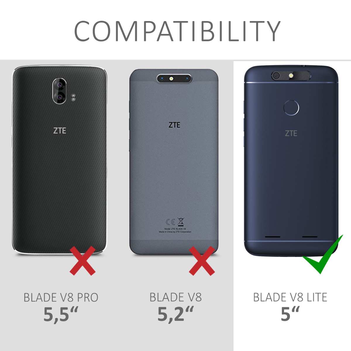 sale retailer 10f72 45fd9 Details about TPU Silicone Case Cover for ZTE Blade V8 Lite
