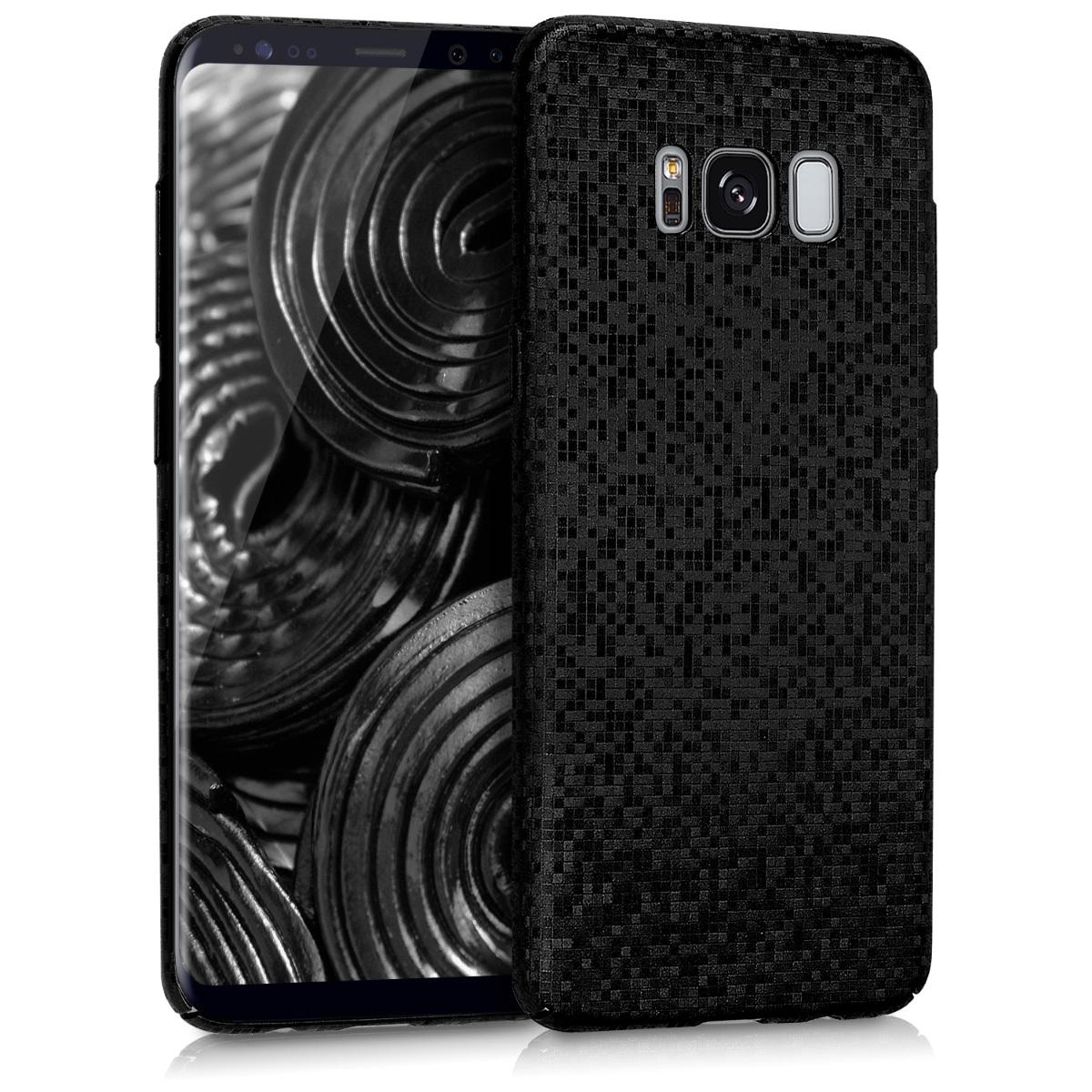 Kvalitní plastové pouzdro pro Samsung S8 - Mosaic Glitter černé