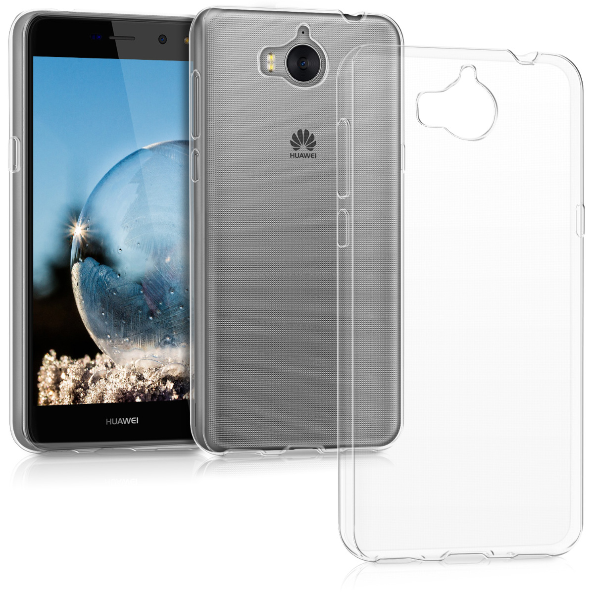 TPU SILICONE CRYSTAL CASE FOR HUAWEI Y6 (2017) SOFT COVER SILICON PROTECTION | eBay