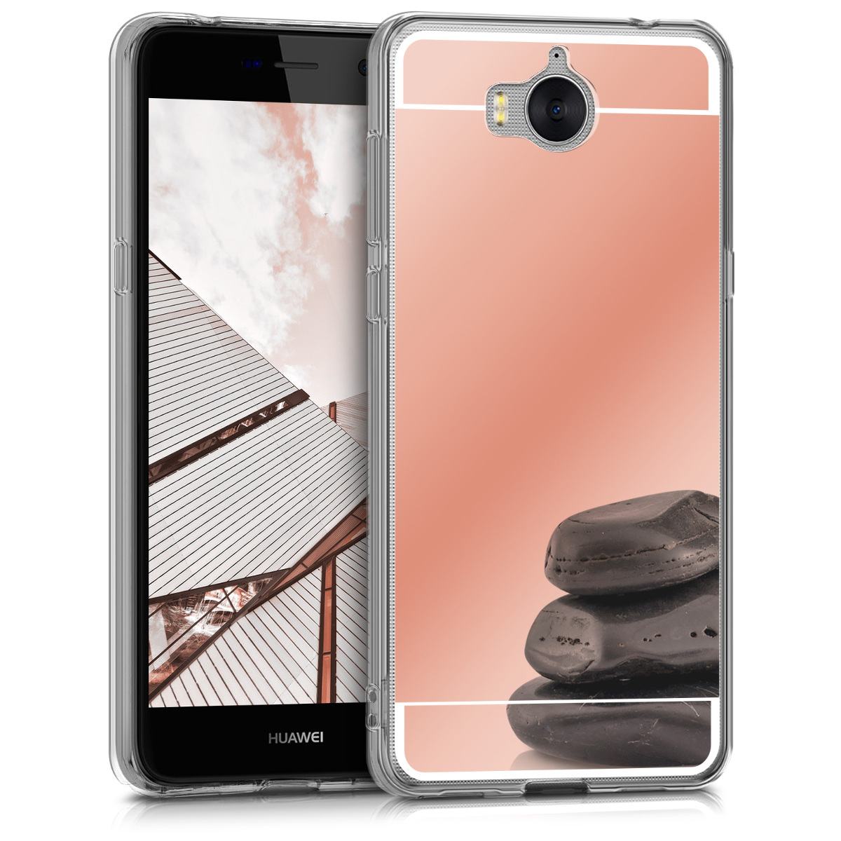Kwmobile housse miroir pour huawei y6 2017 tui portable for Housse huawei y6 2017