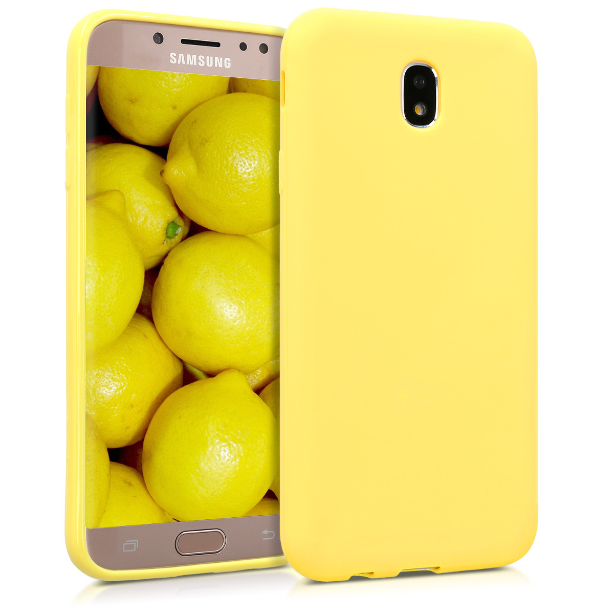 Kvalitní silikonové TPU pouzdro pro Samsung J7 (2017) DUOS - pastelové žluté matné