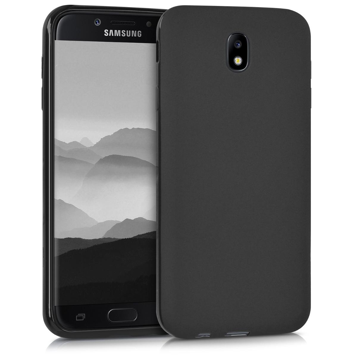 Kvalitní silikonové TPU pouzdro pro Samsung J7 (2017) DUOS - černé matné