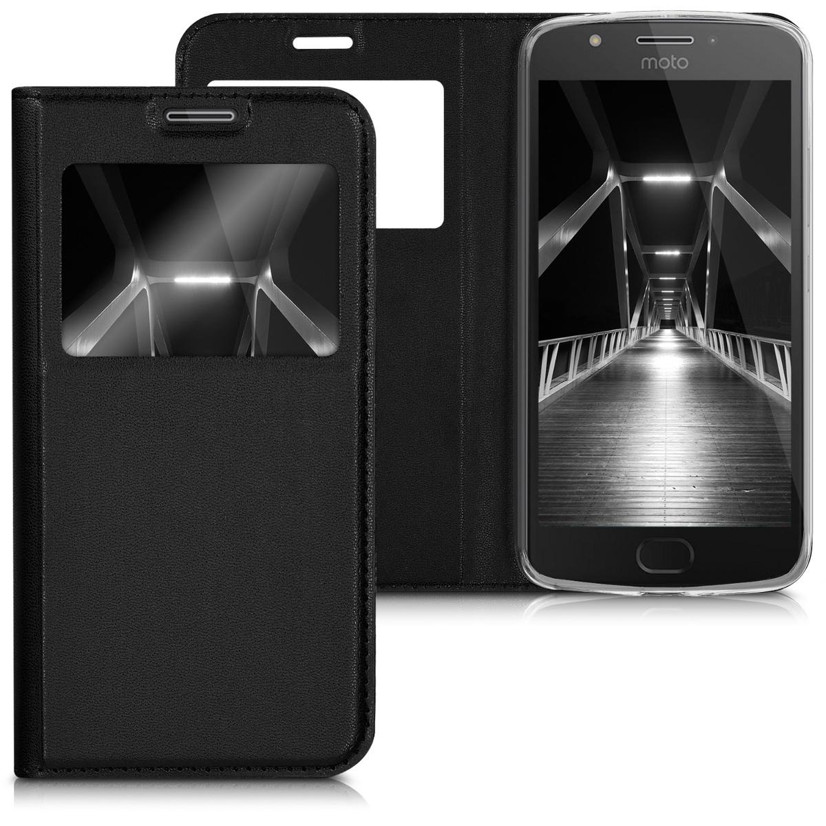 3x folie na display   screenprotector pouzdro   obal pro Motorola Moto E4 - Černá