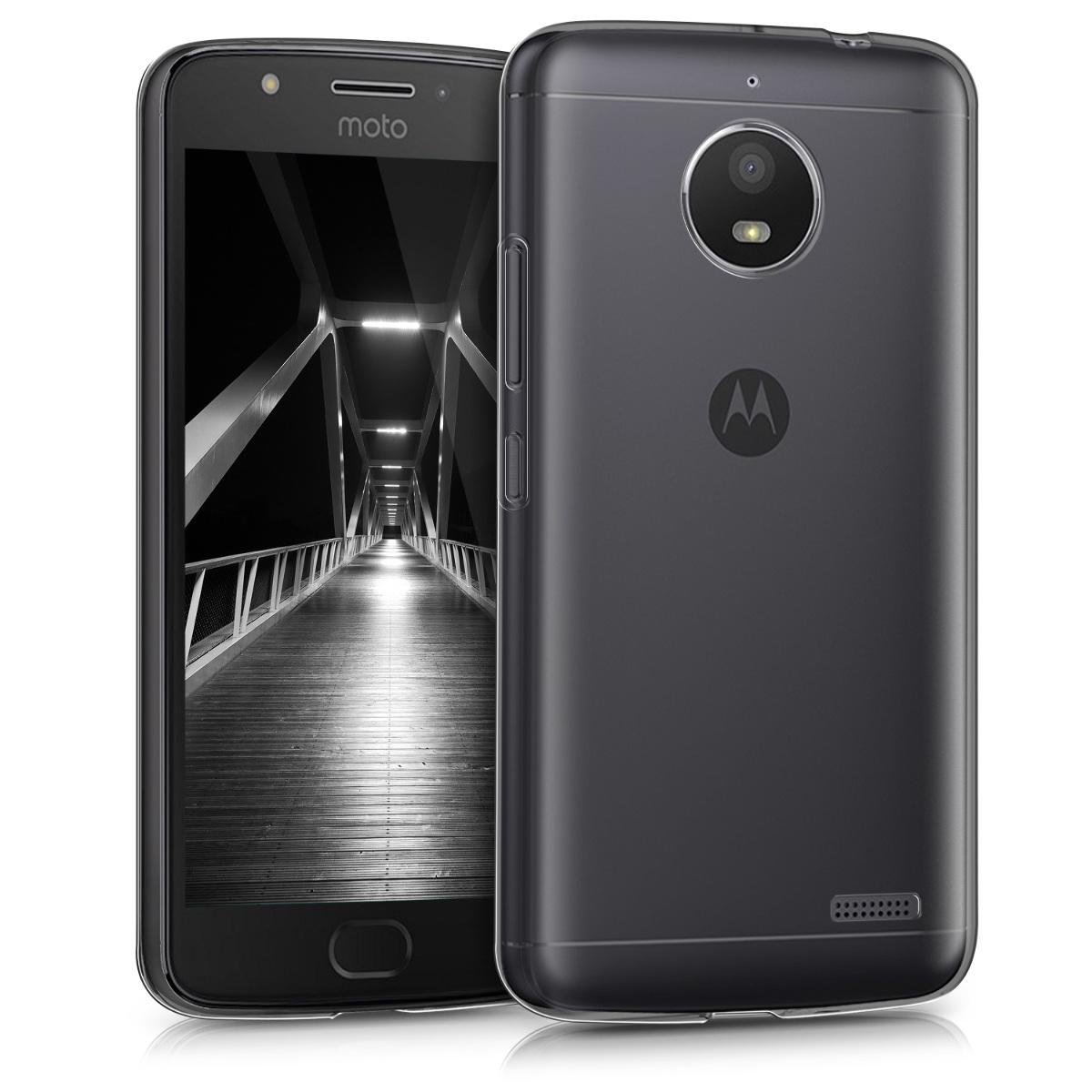Kvalitní silikonové TPU pouzdro   obal pro Motorola Moto E4 - Černá / průhledná