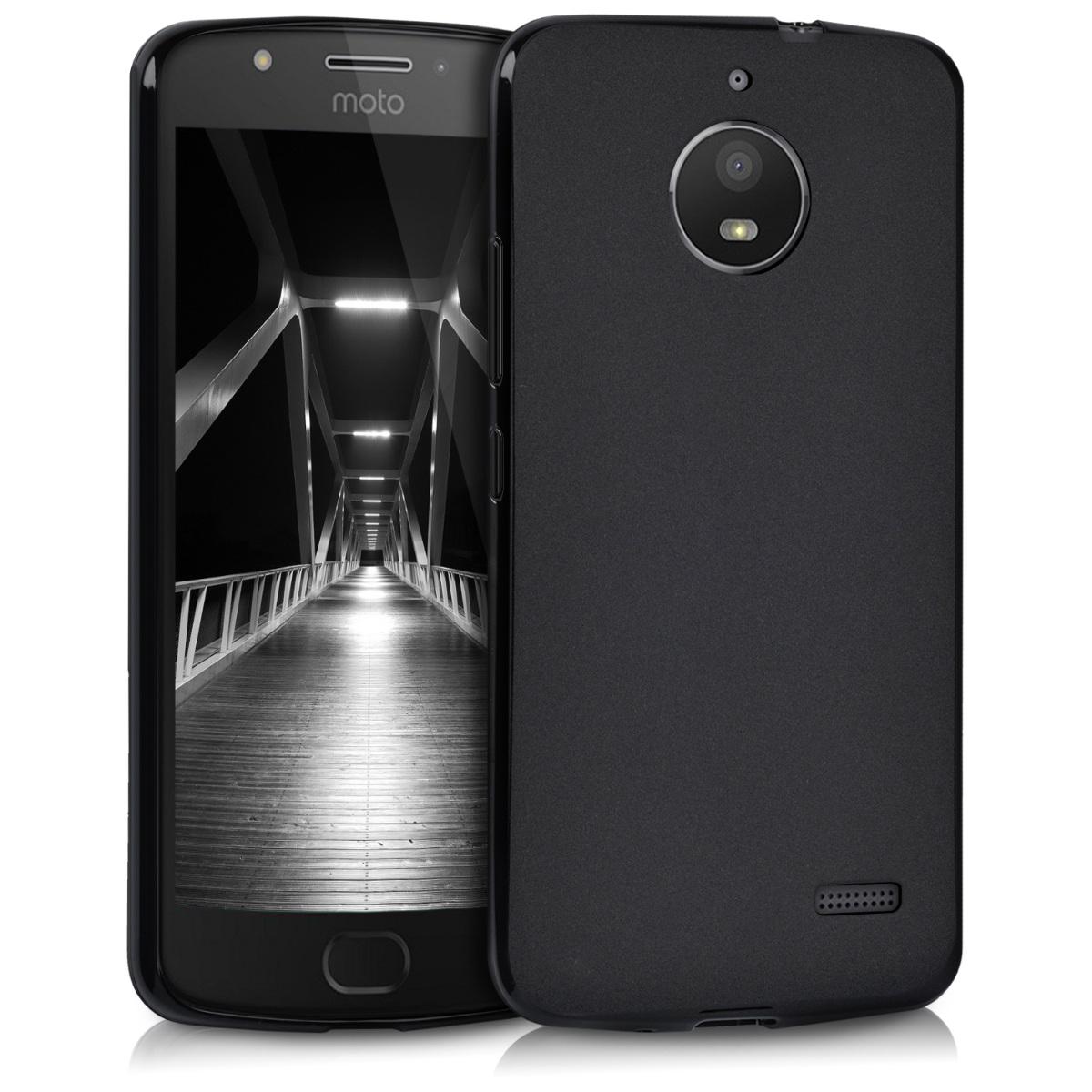 Kvalitní silikonové TPU pouzdro   obal pro Motorola Moto E4 - Černá matná
