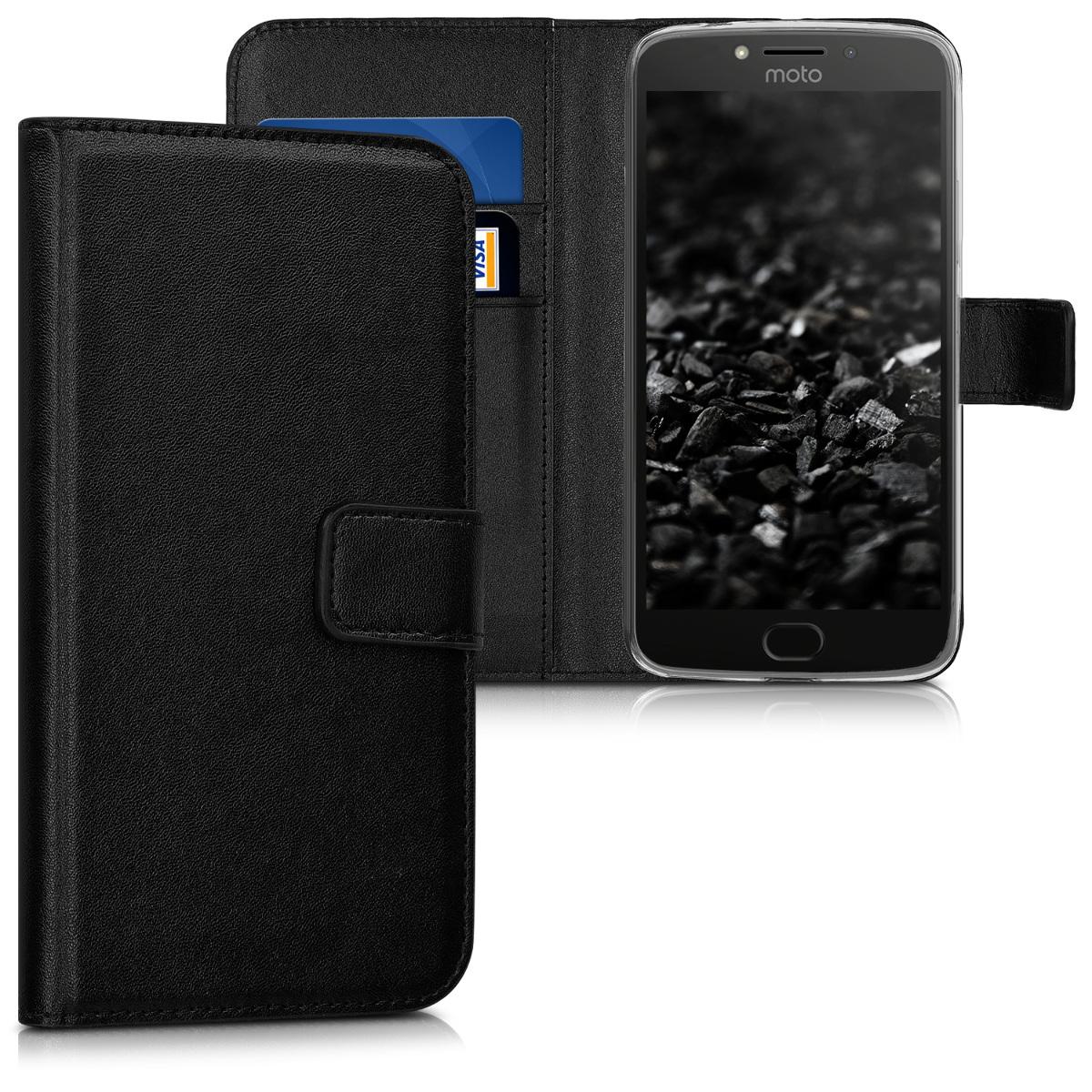Kožené pouzdro | obal pro Motorola Moto E4 Plus - Černá