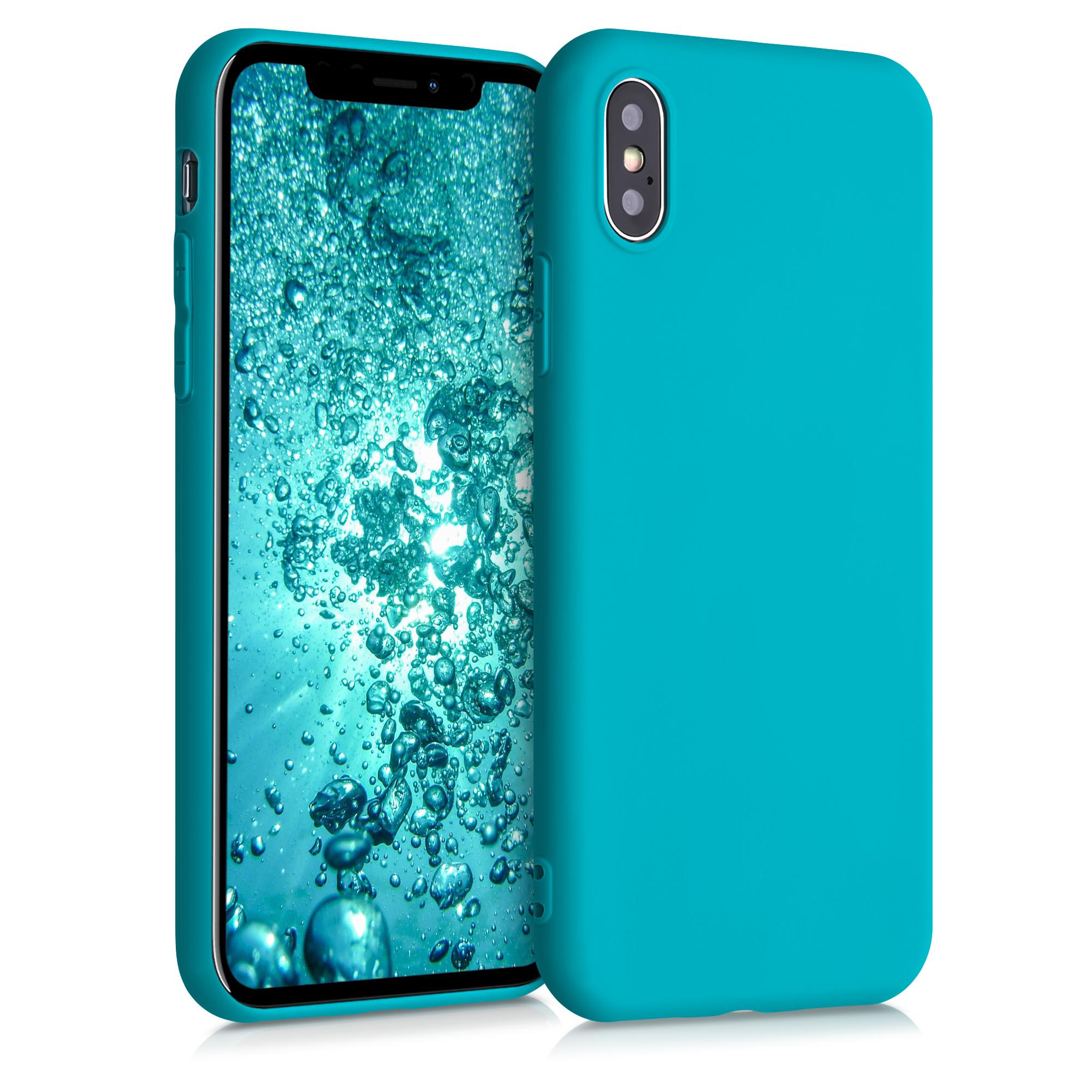 Kvalitní silikonové TPU pouzdro pro Apple iPhone X - Ledová modř