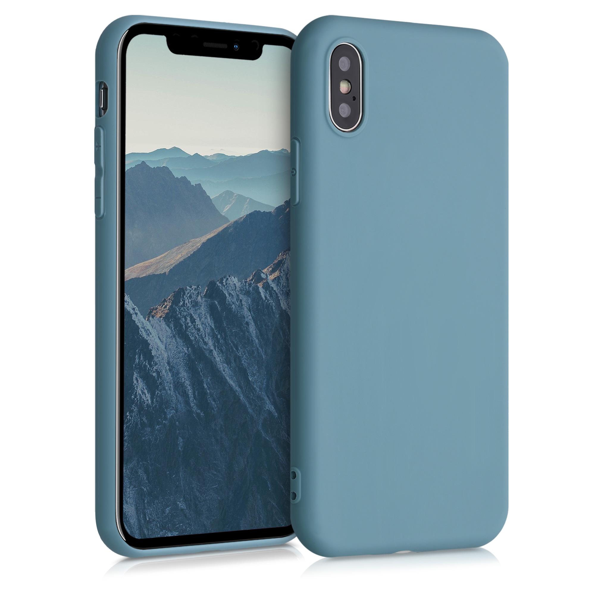 Kvalitní silikonové TPU pouzdro pro Apple iPhone X - Arctic Modrá