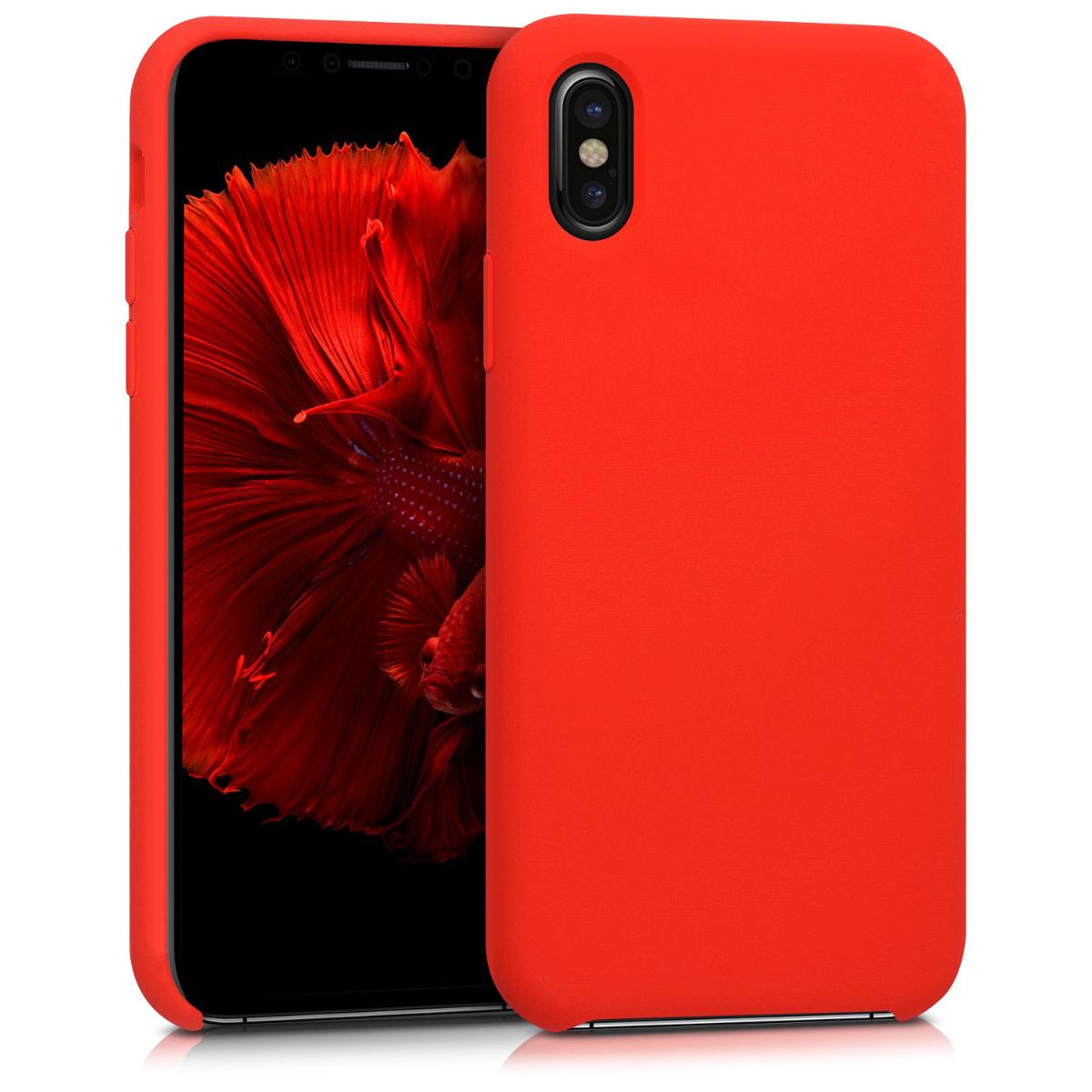 Kvalitní silikonové TPU pouzdro pro Apple iPhone X - Červené