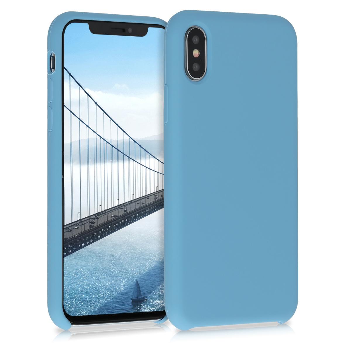 Kvalitní silikonové TPU pouzdro pro Apple iPhone X - azurově modré