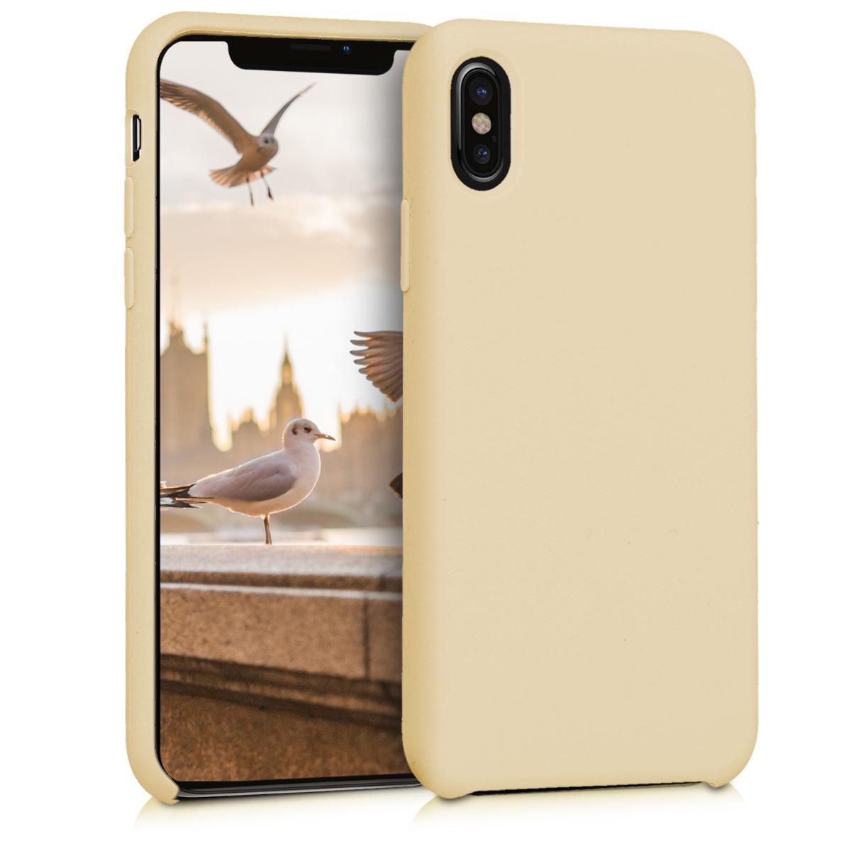 Kvalitní silikonové TPU pouzdro pro Apple iPhone X - Světle žlutá