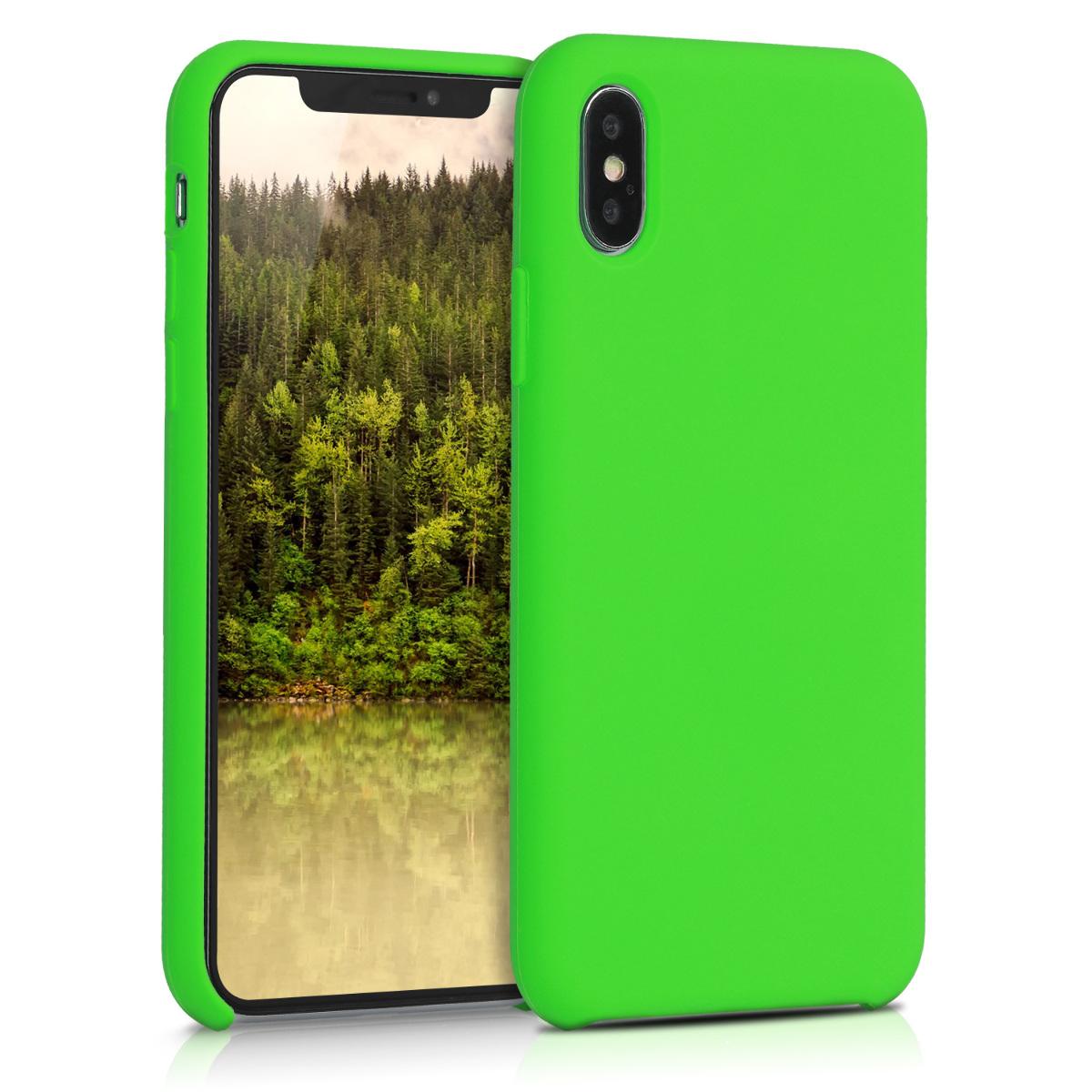 Kvalitní silikonové TPU pouzdro pro Apple iPhone X - Limetkově zelená