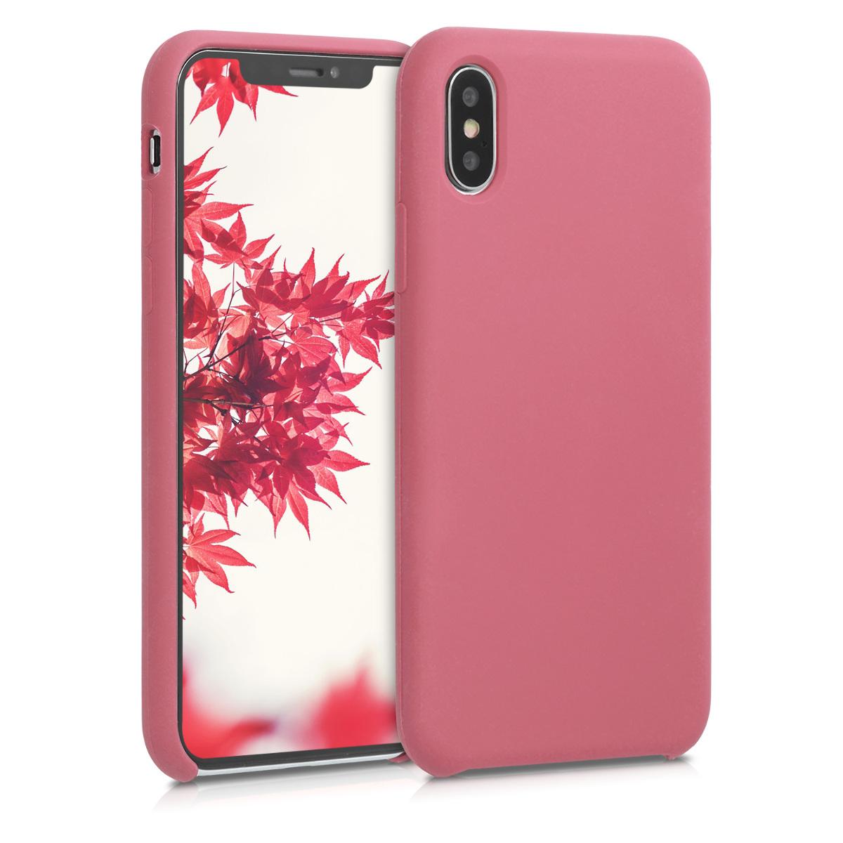 Kvalitní silikonové TPU pouzdro pro Apple iPhone X - Hluboké Rusty Rose