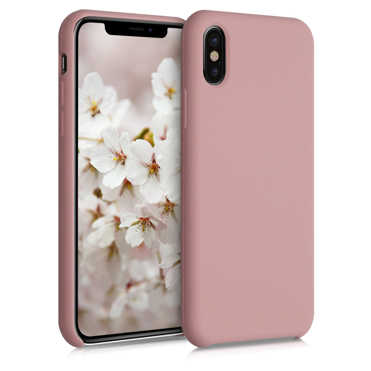 Kvalitní silikonové TPU pouzdro pro Apple iPhone X - Rose Tan
