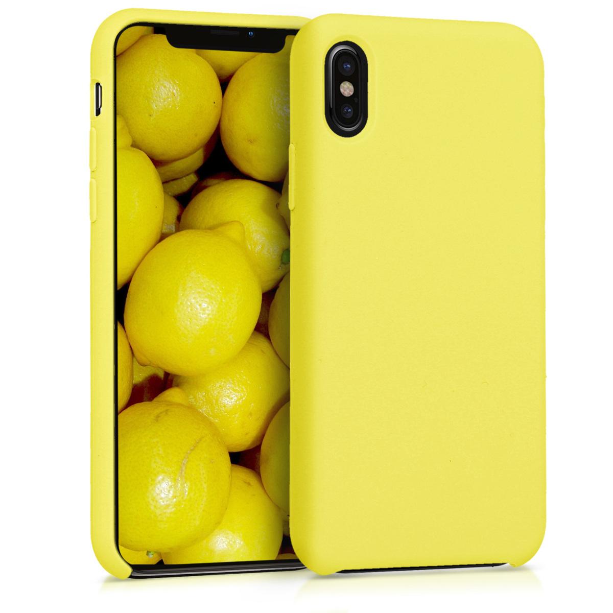 Kvalitní silikonové TPU pouzdro pro Apple iPhone X - Žlutá