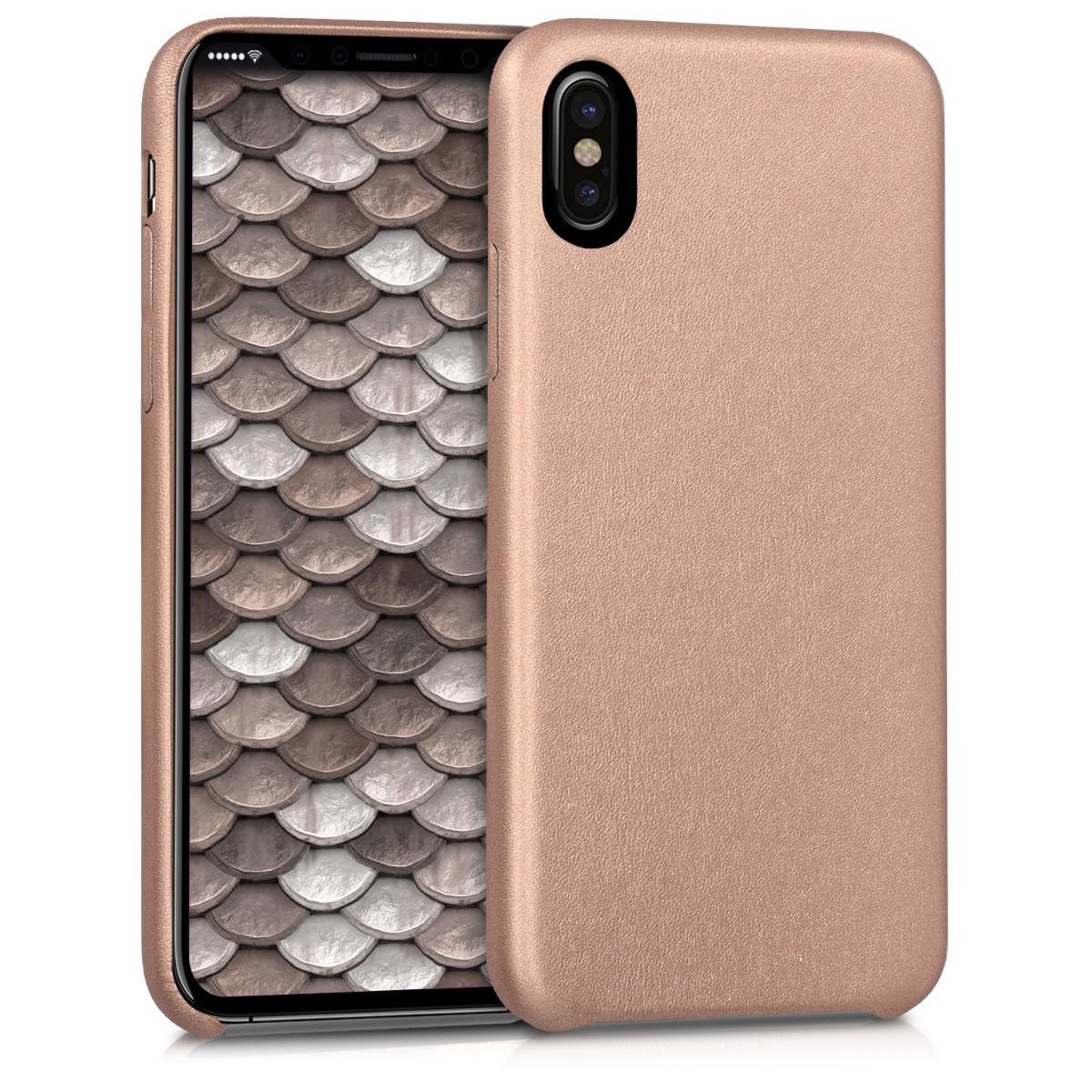 Kvalitní plastové pouzdro pro Apple iPhone X - Rose Gold
