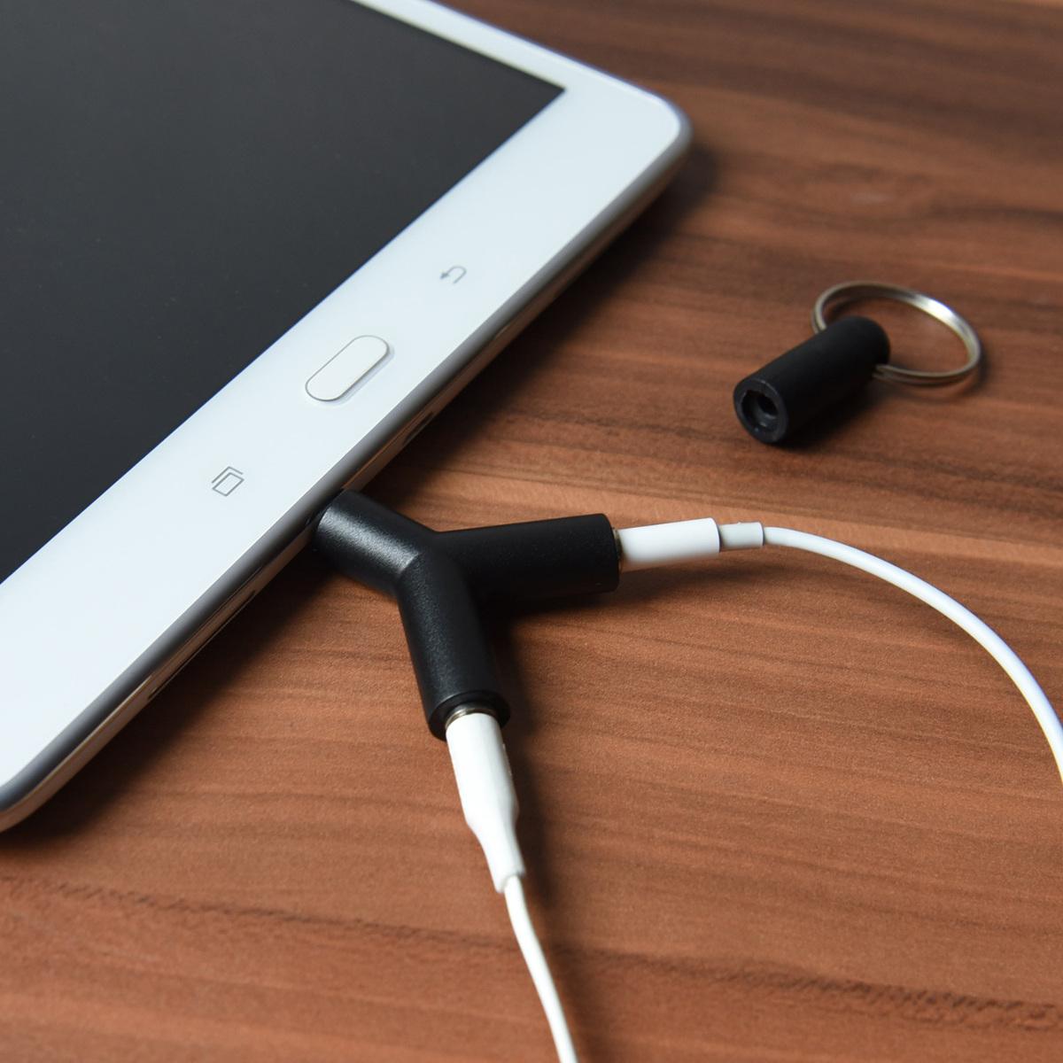 Kopfh rer audio splitter adapter doppel klinkenstecker 3 for Zimmertur offnen ohne klinke