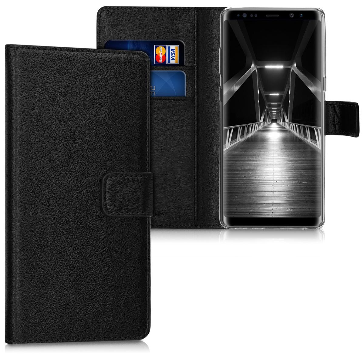Kožené pouzdro pro Samsung Note 8 DUOS - černé