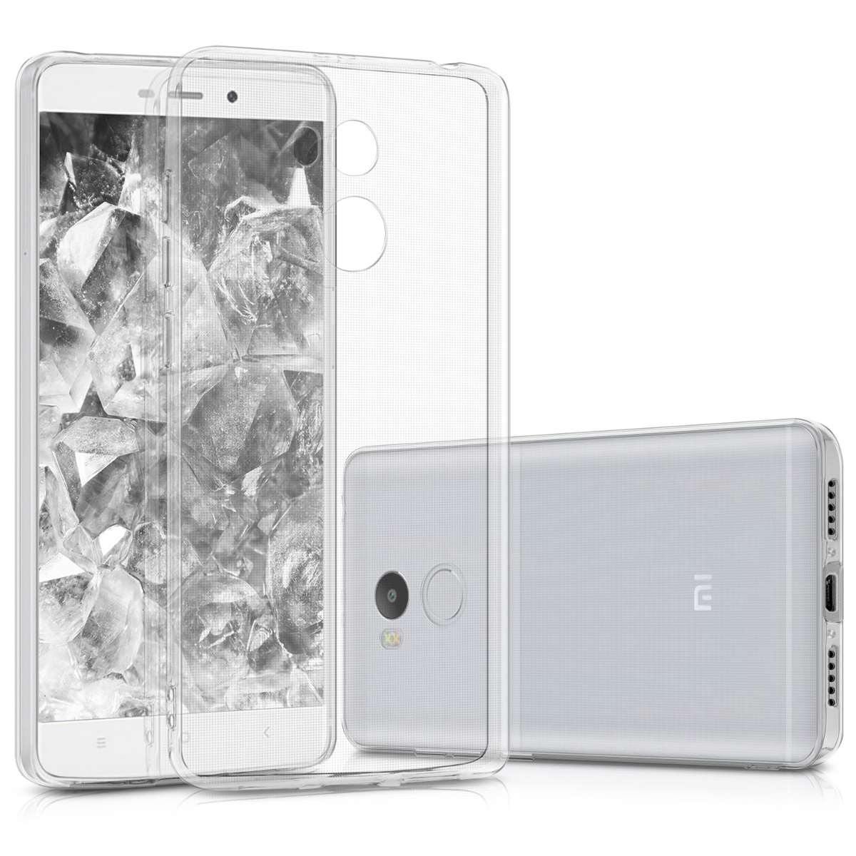 Kvalitní silikonové TPU pouzdro | obal pro Xiaomi Redmi 4 (High Edition) - Průhledný