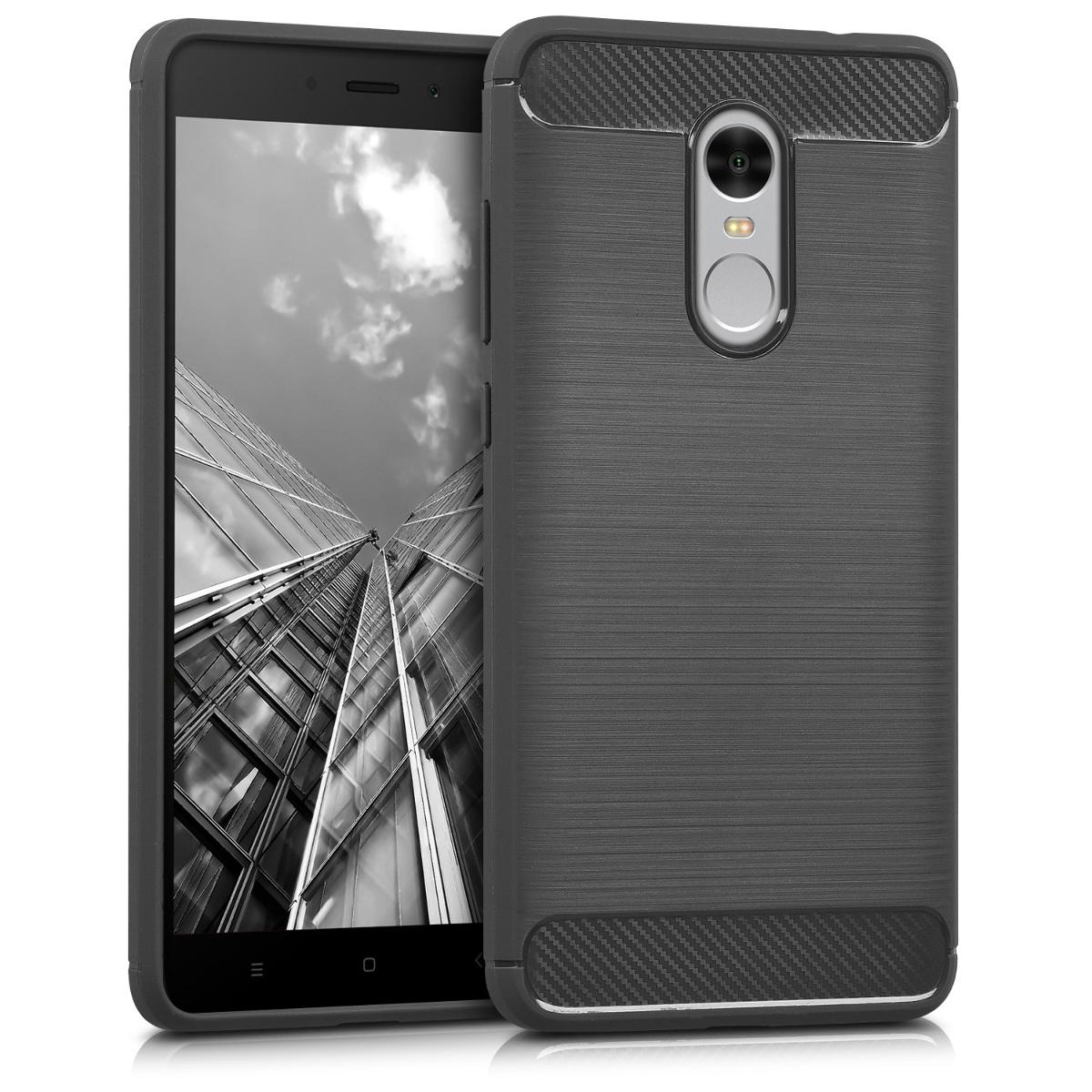 Kvalitní silikonové TPU pouzdro | obal pro Xiaomi Redmi Note 4 | Note 4X - Broušený Carbon Anthracite