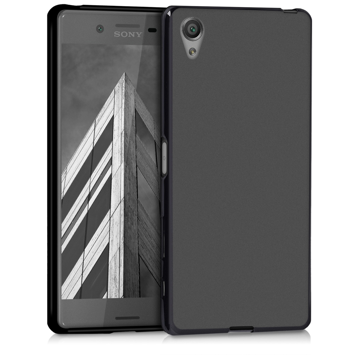 Kvalitní silikonové TPU pouzdro | obal pro Sony Xperia X - černé matné