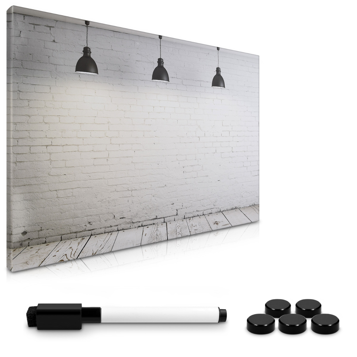 magnetpinnwand memoboard 60x40cm industrial design notiztafel abwaschbar ebay. Black Bedroom Furniture Sets. Home Design Ideas