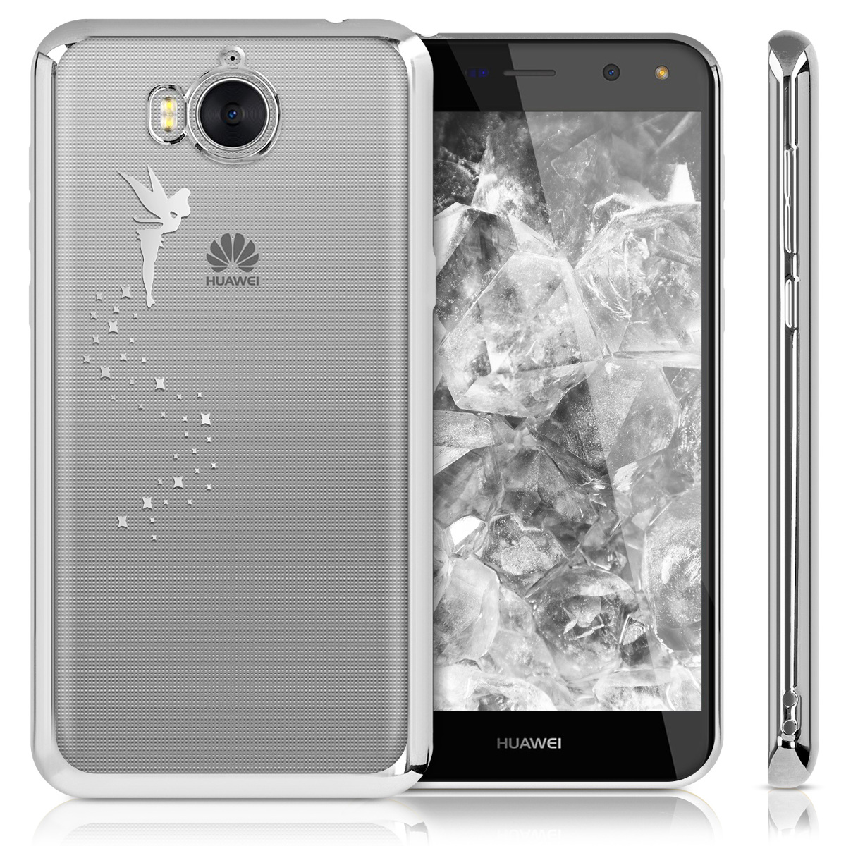 TPU Crystal Case for Huawei Y6 (2017) with Galvanized Frame | eBay