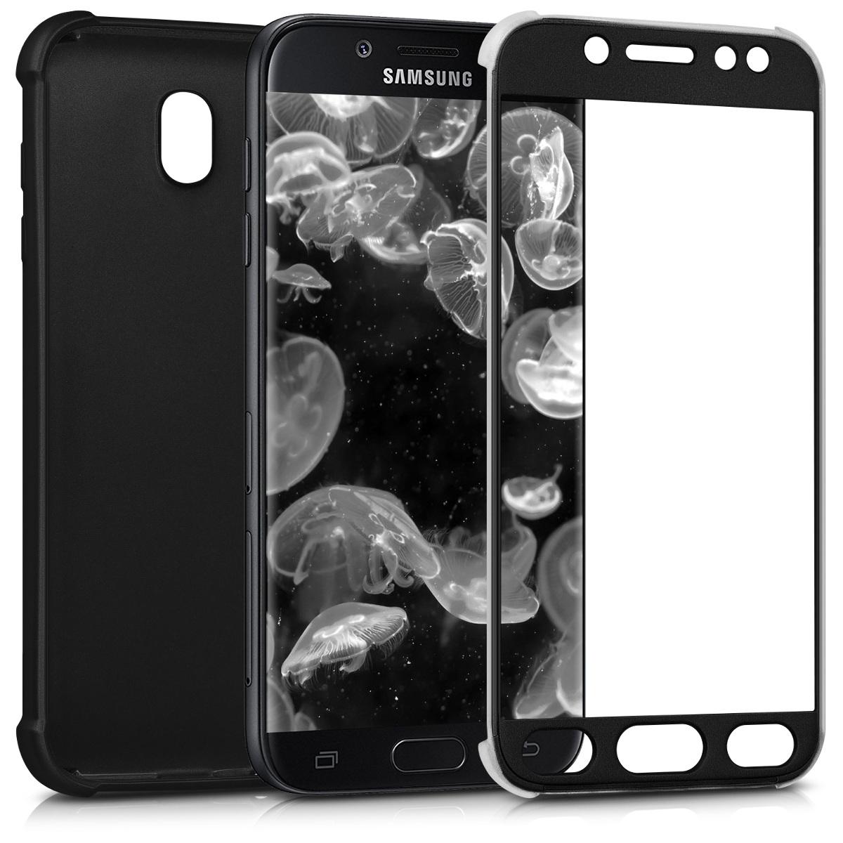 Kvalitní silikonové TPU pouzdro pro Samsung J7 (2017) DUOS - metalické černé