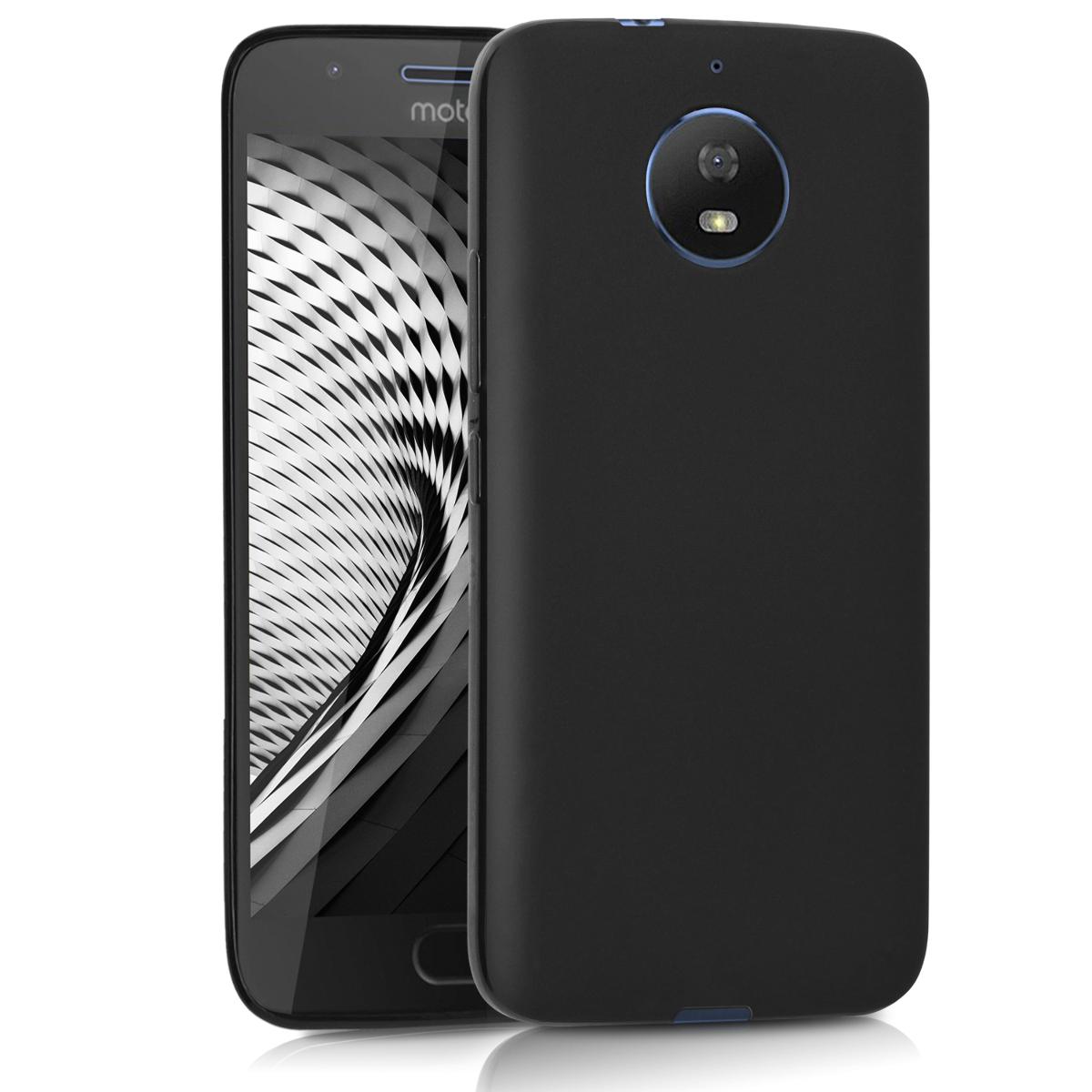 Kvalitní silikonové TPU pouzdro | obal pro Motorola Moto G5S - Černá matná