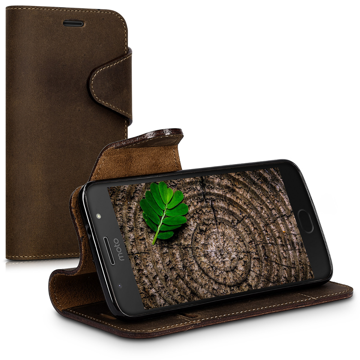 GENUINE-LEATHER-WALLET-CASE-FOR-MOTOROLA-MOTO-G5S-COVER-CARD-COMPARTMENT-CELL