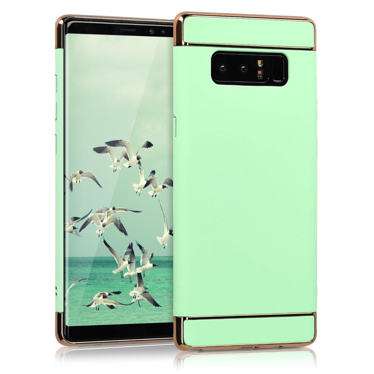 Kvalitní plastové pouzdro pro Samsung Note 8 DUOS - mint zelené / Gold
