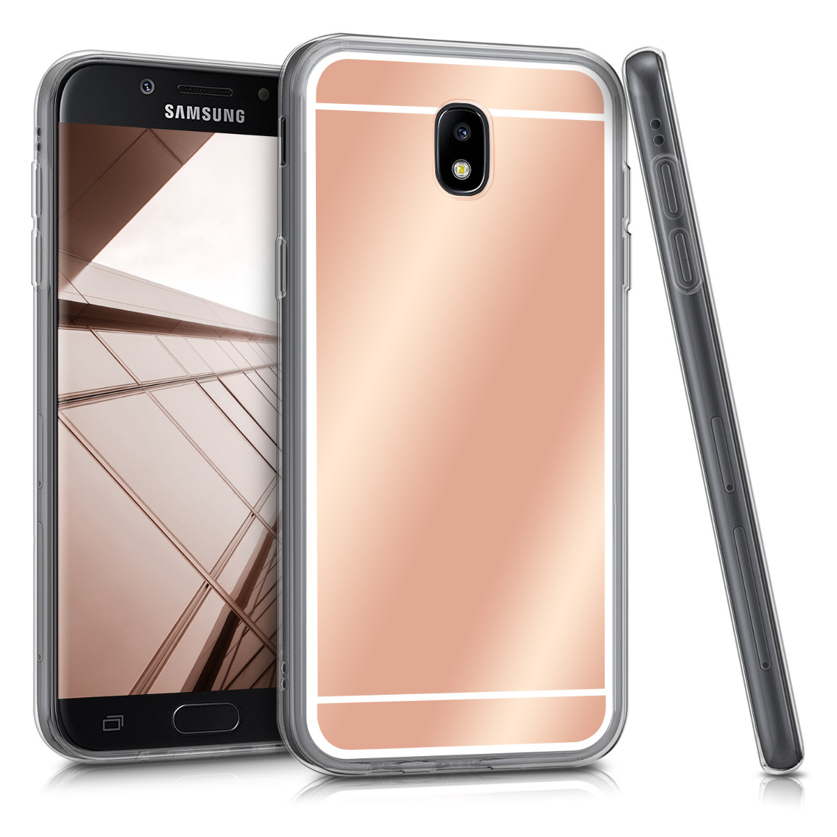 Spiegel h lle f r samsung galaxy j7 2017 duos rosegold for Spiegel cover 2017