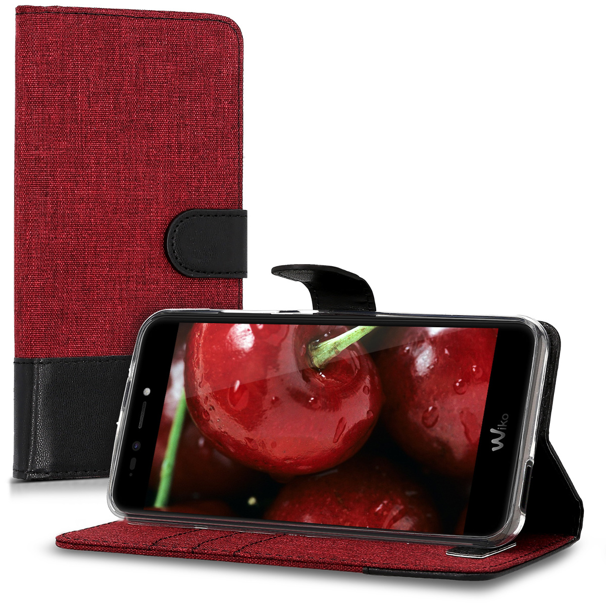 kwmobile-FABRIC-WALLET-PROTECTIVE-COVER-FOR-WIKO-UPULSE-LITE-COVER-CASE-BAG