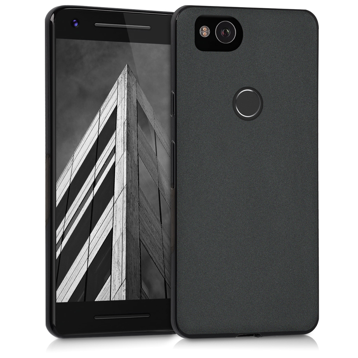 Kvalitní silikonové TPU pouzdro   obal pro Google Pixel 2 - Černá matná