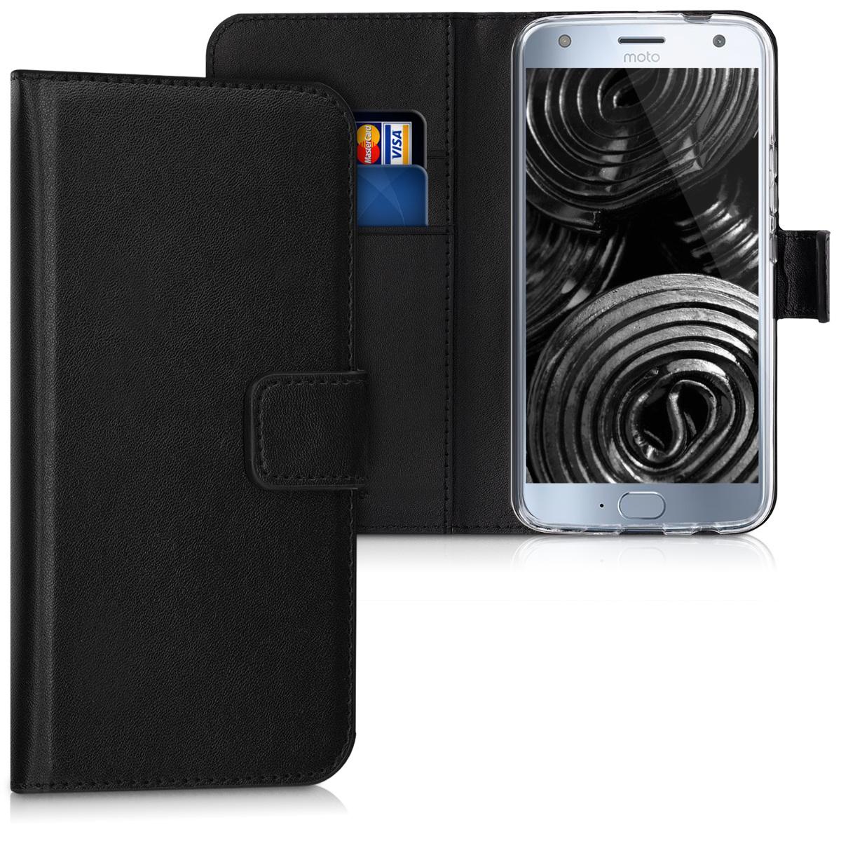 Kožené pouzdro | obal pro Motorola Moto X4 - Černá